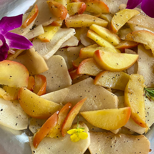 Baker's Delight<sup>™</sup> Apple and Baby Turnip Saute