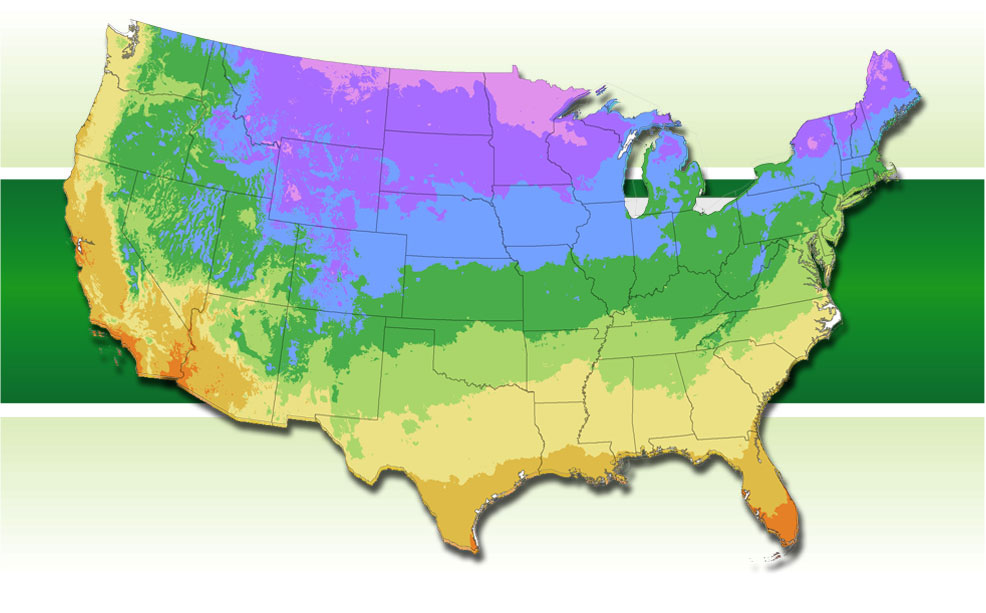 Map of Planting Zones
