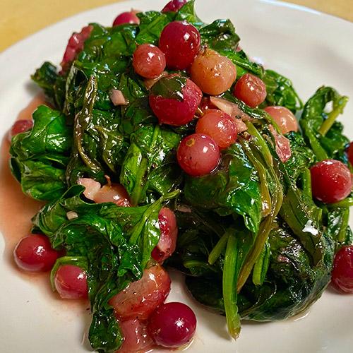 Goliath<sup>™</sup> Spinach, RazzMatazz<sup>®</sup>   Seedless Grape and California White Softneck Garlic Sauce