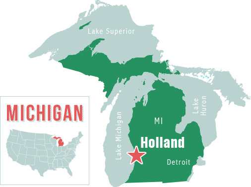 Holland Michigan Map