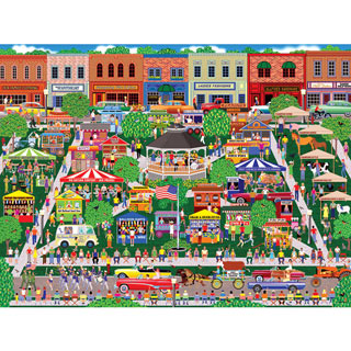 Small Town Summer Fair 300 Large Piece Jigsaw Puzzle