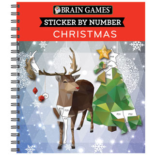 Sticker by Number Book - Christmas