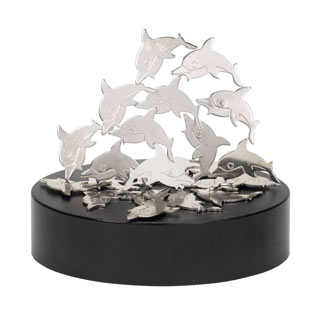 Dolphins Magnetic Sculpture