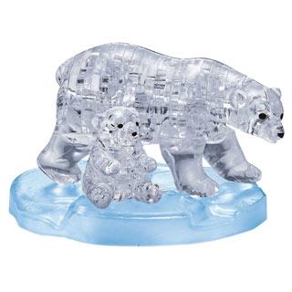 Polar Bears 3D Crystal Puzzle