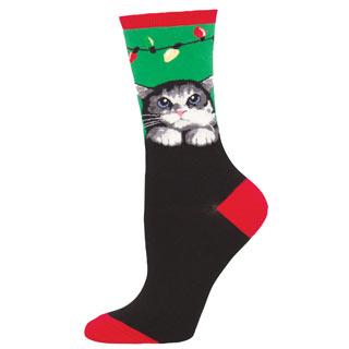 Christmas Cat Socks
