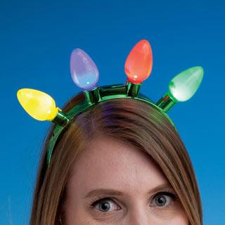 Jumbo Flashing Lights Headband