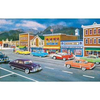 Main St of Memories 550 Piece Jigsaw Puzzle