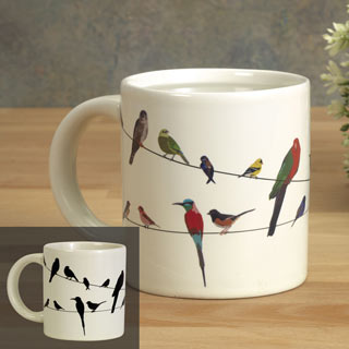 Birds on a Wire Color Changing Mug