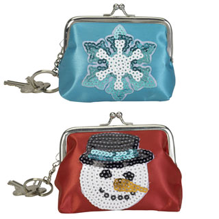 Sparkly Holiday Coin Purse Set