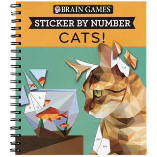 Sticker by Number Book- Cats