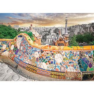 Barcelona, Park Guell 1000 Piece Jigsaw Puzzle