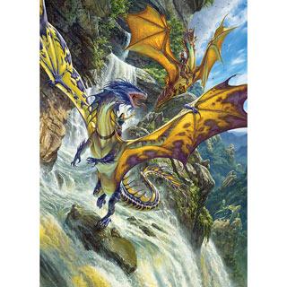 Waterfall Dragons 1000 Piece Jigsaw Puzzle