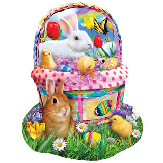 Easter Basket 1000 Piece Shaped Jigsaw Puzzle