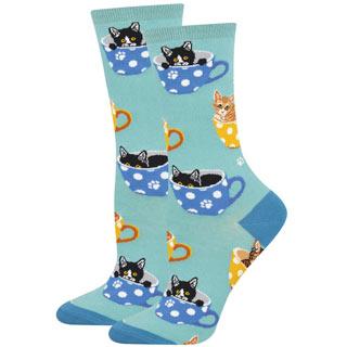 Blue Cat in Teacup Socks