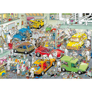 In The Car Respraying Shop 500 Piece Jigsaw Puzzle