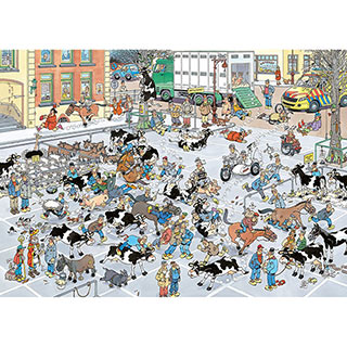 Cattle Market 1000 Piece Jigsaw Puzzle