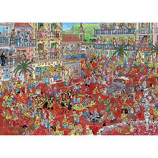 La Tomatina 1000 Piece Jigsaw Puzzle