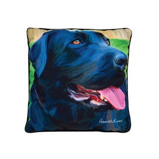 Large Dog Pillow - Black Lab