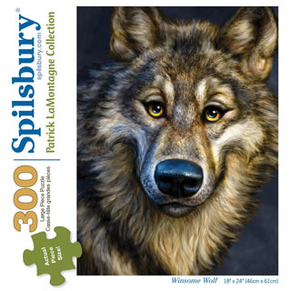 Winsome Wolf 300 Large Piece Jigsaw Puzzle