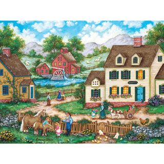 Meeting the New Foal 300 Large Piece Jigsaw Puzzle