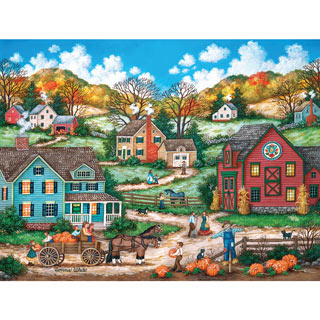 The Pumpkin Pickers 1000 Piece Jigsaw Puzzle