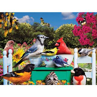 Birds Tea Party 300 Large Piece Jigsaw Puzzle