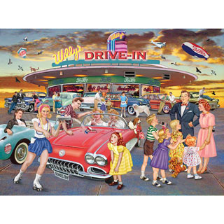 Willy's Drive-In At Sunset 550 Piece Jigsaw Puzzle