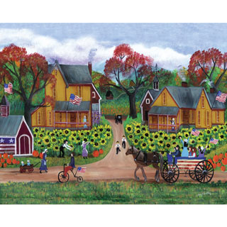 American Sunflower Farm 1000 Piece Jigsaw Puzzle