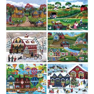 Set of 6: Cheryl Bartley 1000 Piece Jigsaw Puzzles