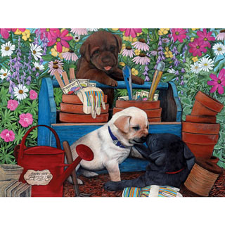 Garden Pups 300 Large Piece Jigsaw Puzzle