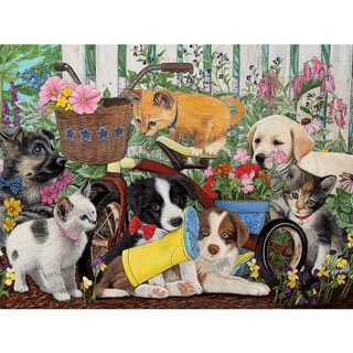 Garden Playtime 300 Large Piece Jigsaw Puzzle