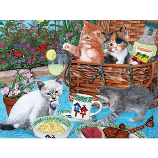 Picnic Kittens 300 Large Piece Jigsaw Puzzle