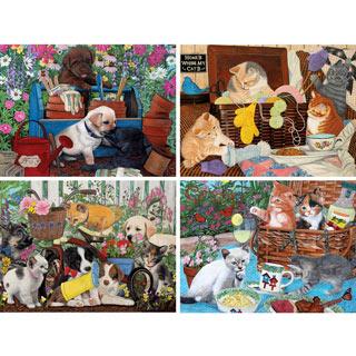 Set of 4: Julie Bauknecht 300 Large Piece Jigsaw Puzzles