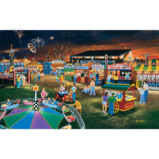 Evening at the County Fair 300 Large Piece Jigsaw Puzzle