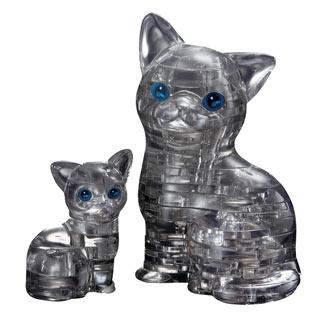 3D Cat & Kitten Crystal Puzzle