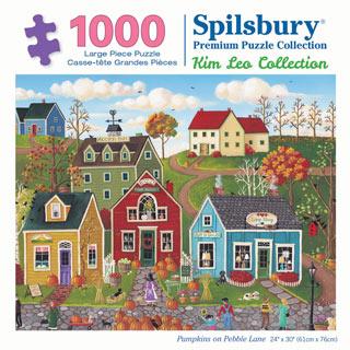 Pumpkins on Pebble Lane 1000 Piece Jigsaw Puzzle
