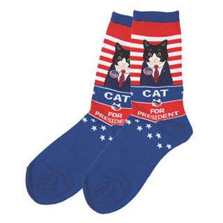 Cat for President Socks