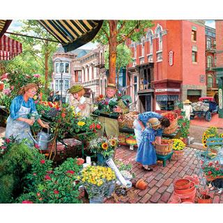 Sidewalk Flower Sale 300 Large Piece Jigsaw Puzzle