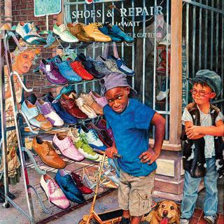 Crazy Shoes 300 Large Piece Jigsaw Puzzle