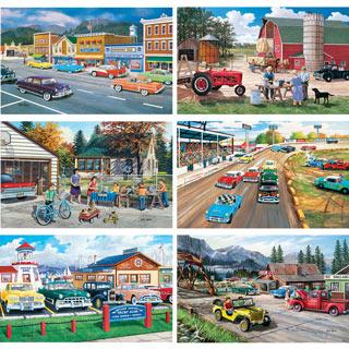 Set of 6: Ken Zylla 300 Large Piece Jigsaw Puzzles