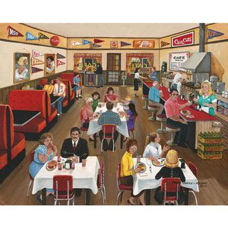 Downtown Café 300 Large Piece Jigsaw Puzzle