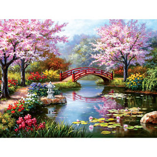 Japanese Garden in Bloom 1000 Piece Jigsaw Puzzle