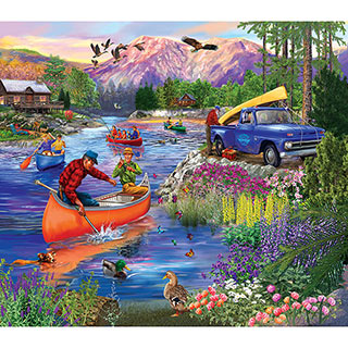Out On The Lake 300 Large Piece Jigsaw Puzzle