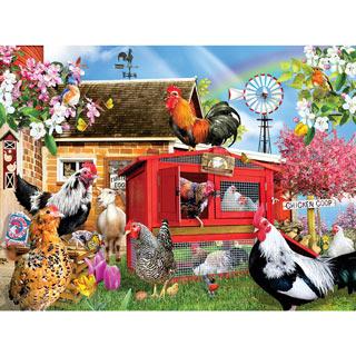 Chicken Coop 1000 Piece Jigsaw Puzzle