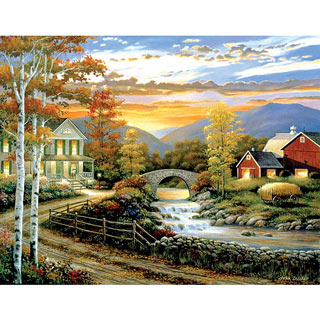 Babbling Creek Road 300 Large Piece Jigsaw Puzzle