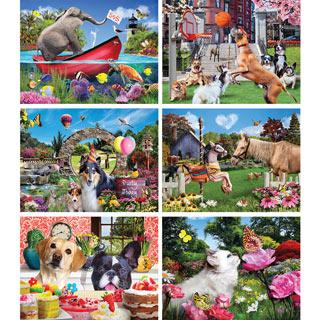 Set of 6: Karen Burke 1000 Piece Jigsaw Puzzles