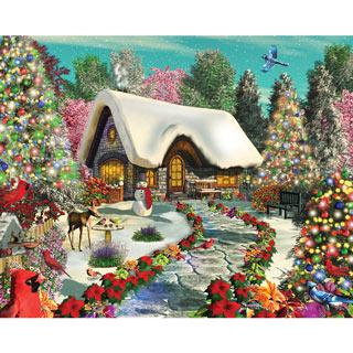 Snowy Delight 1000 Piece Jigsaw Puzzle