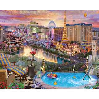 Las Vegas Twilight 1000 Piece Jigsaw Puzzle
