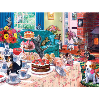 Tea Time Terrors 550 Piece Jigsaw Puzzle