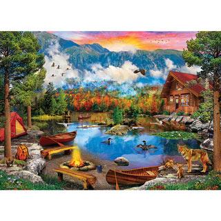 Sunset Canoe 1000 Piece Jigsaw Puzzle